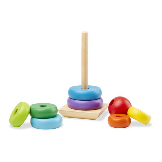 Melissa and Doug Rainbow Stacker, wooden stacking toy