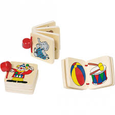 Goki Wooden Books for Babies and Toddlers