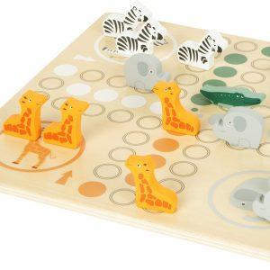 Wooden Ludo Board Game Safari Animals from Small Foot Design Toys