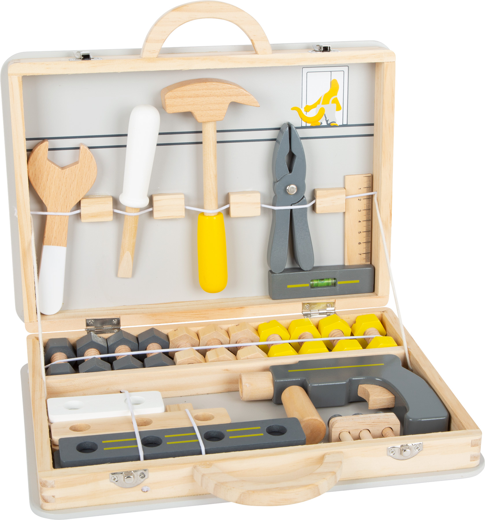 Wooden Play Toolbox with Tools