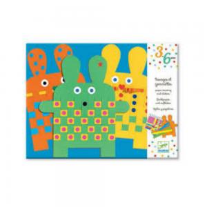 Djeco Paper Weaving Bunnies Craft Activity for preschool aged children